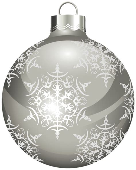 transparent silver christmas ball clipart gallery