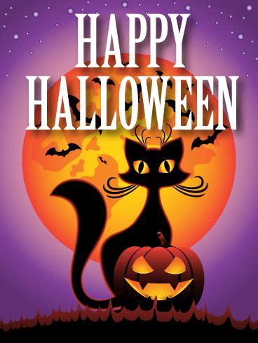spooky night happy halloween card birthday greeting cards  davia