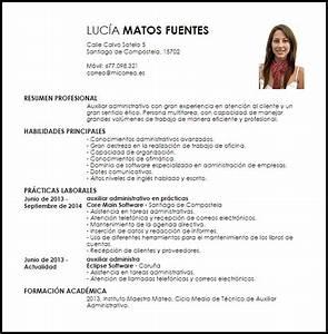Modelo Curriculum Vitae Auxiliar Administrativo Principiante