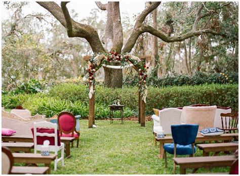 Bohemian Backyard Wedding by Colorful Bohemian Backyard Wedding In Lakeland Florida