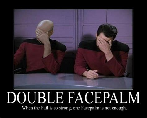 Captain Picard Facepalm Meme - double facepalm robin brown