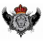 Lion Crown Wings Clipart Sticker Tattoo Transparent