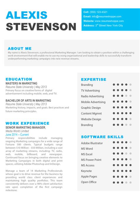 resume templates  mac word apple pages instant