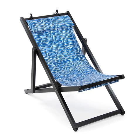 Folding Deck Chairs  Blue Canvas  Vienna Woods