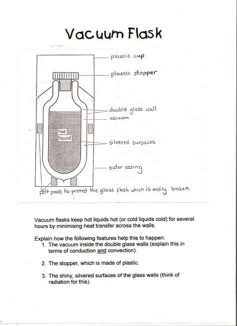 vacuum flask worksheet  pinkhelen teaching resources tes
