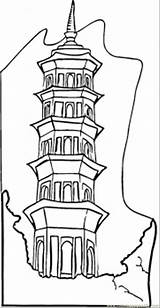 Coloring Pages Building Chinese China Apartment Drawing Empire State Blocks Lego Pdf Block Getdrawings Husband Getcolorings Flag Buildings Wife Printable sketch template