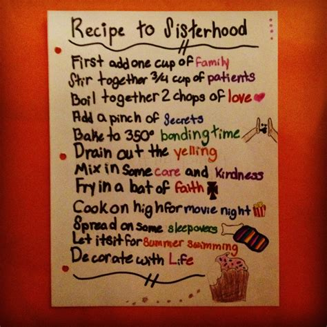 You Bid Recipe To Sisterhood
