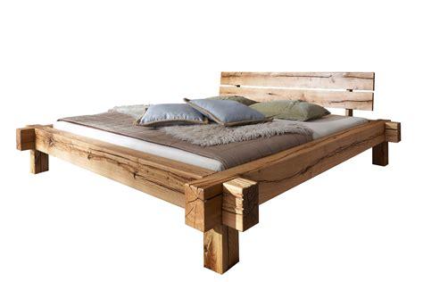 SAM® Massivholzbett Balkenbett Wildeiche 180 x 200 cm