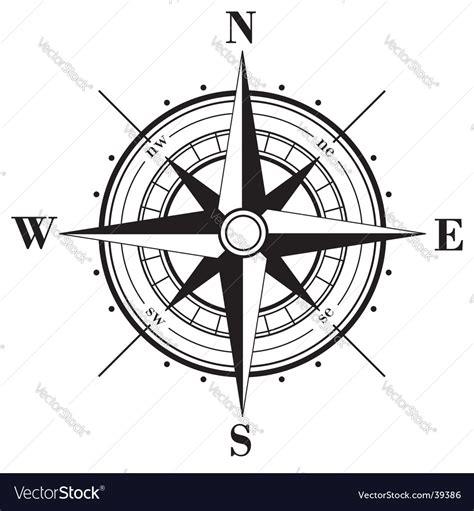 Compass Clip Compass Royalty Free Vector Image Vectorstock