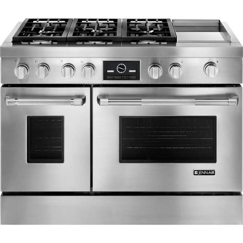 jenn air cooktop pro style 174 dual fuel range with griddle and multimode