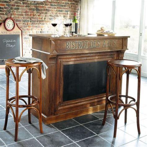 meuble de bar en manguier bistrot maisons du monde maison de campagne pinterest meuble