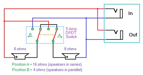 Series Parallel Switch For Back Speaker Cab Les