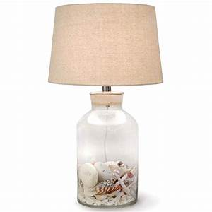 Luxury fillable glass lamps target glass lamp fillable for Glass jar floor lamp