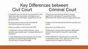 Civil vs. Criminal courts - ppt download