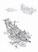 Flying Ship Ships Concept Steampunk Deviantart Airship Coloring Tattoo Drawings Dirigeable Drawing Vehicule Projet Dessins Livres Par Dieselpunk Moms Deviant sketch template