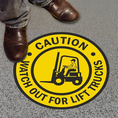 Floor For Lifted Trucks by Caution Out For Lift Trucks Floor Sign Best Price