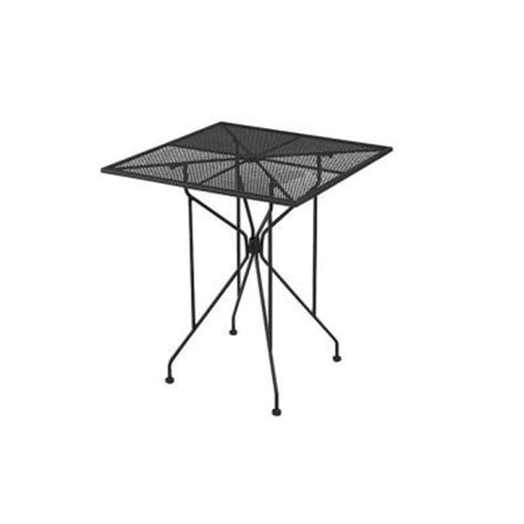 wrought iron black patio bar table w3929 36 bk the home