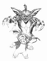 Gremlins Coloring Pages Gizmo Drawing Colouring Horror Gremlin Colour Adult Sketches Sketch Scary Drawings Sketchite Quote Getdrawings sketch template