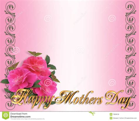 mothers day border pink roses royalty  stock