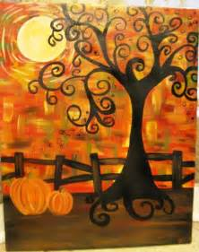 Fall Tree Canvas Painting
