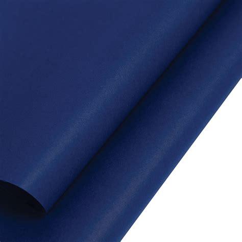 dark blue economy tissue paper carrier bag shop