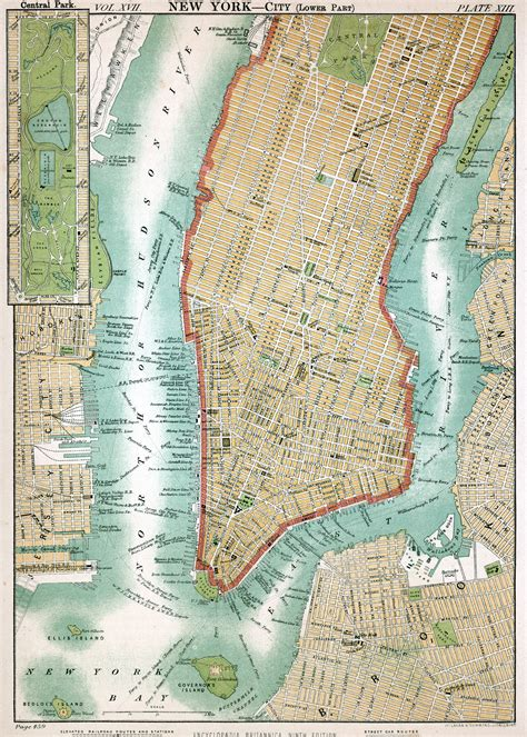 detailed map  manhattan manhattan  detailed map