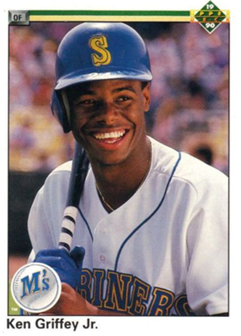 deck ken griffey jr 1995 deck baseball cards designs from 1989 to 2010