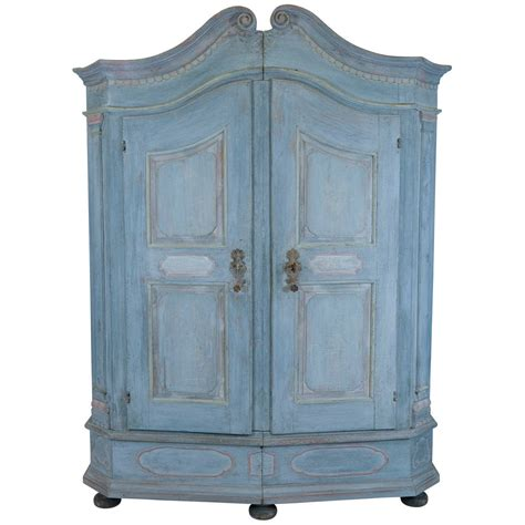 Painted Armoire For Sale Blue Armoire For Sale At 1stdibs