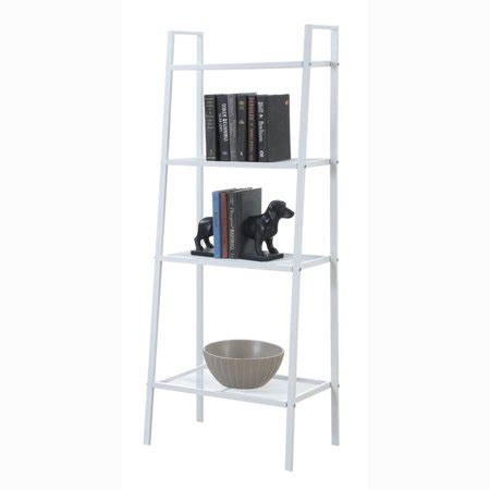 Metal Leaning Bookcase by Ubesgoo 4 Tier Metal Leaning Ladder Wall Shelf Bookcase