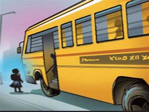 School bus mows down toddler | Hyderabad News - Times of India