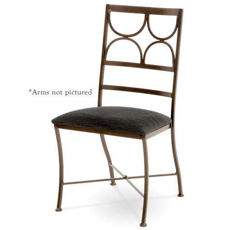 pictured here is the penelope wrought iron dining arm