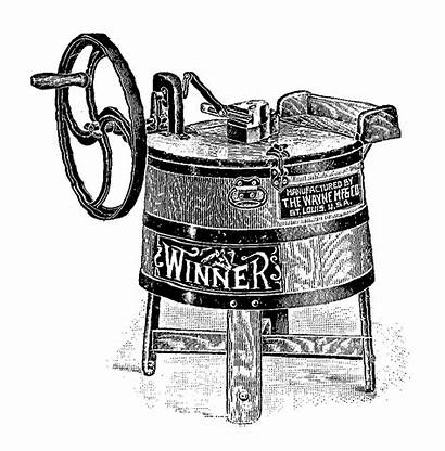 Washing Machine Antique Clip Transfer Digital Winner