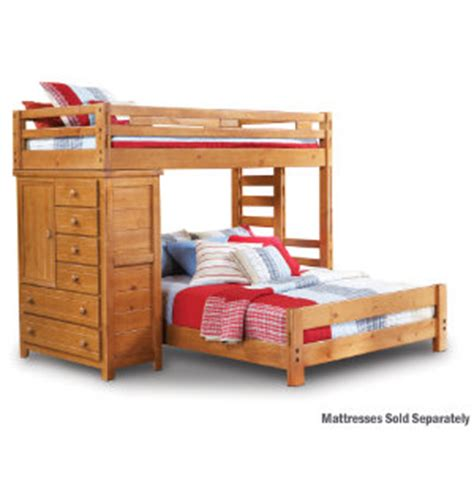 twin loft bed with chest art van furniture