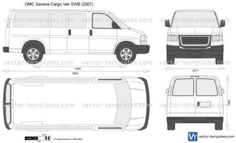 templates cars gmc gmc savana cargo van swb