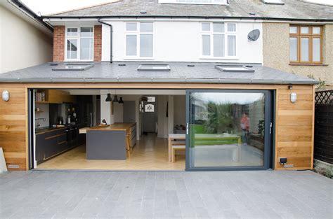 Wood Floor Ideas For Kitchens - smart visoglide grey aluminium sliding doors installed dwl