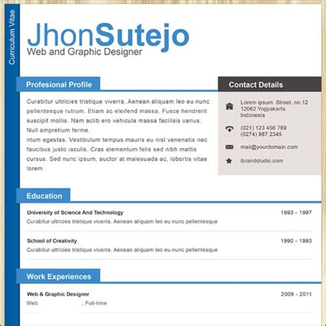 Professional One Page Resume Template by 35 Best Cv And R 233 Sum 233 Templates Idevie