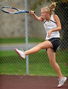 Girls High School Tennis Editorial Stock Photo - Image ...