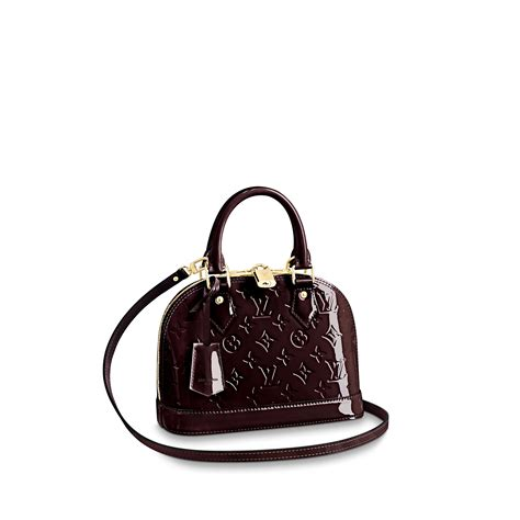 alma bb monogram vernis leather handbags louis vuitton