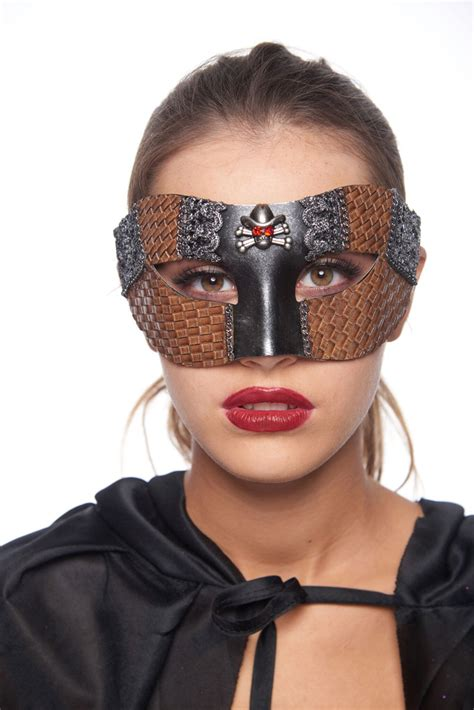 steampunk cowgirl masquerade mask