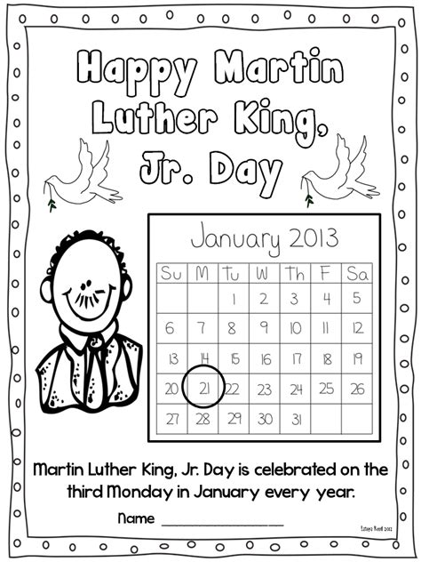 martin luther king jr freebies flying into grade