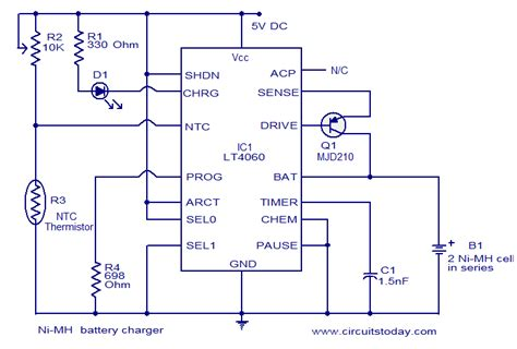 Battery Charger Using Circuit Diagram World