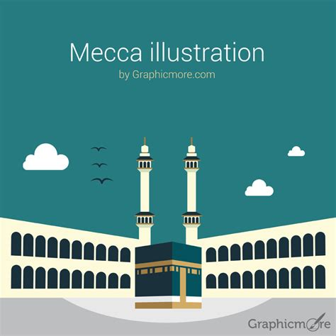 mecca illustration  vector file   graphicmore