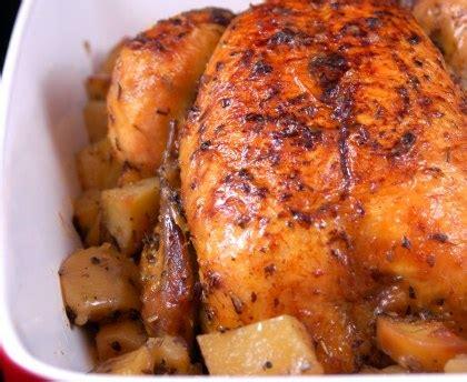 cuisiner un poulet roti recette du poulet fermier roti