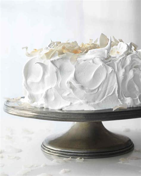 meringue frosting  raspberry white cake recipe martha