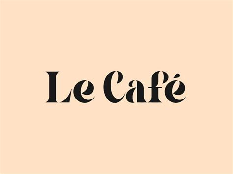 Our coffee bean logos are free to try and consistently in high demand by coffee shops, tea rooms, cafes, coffee bars, internet cafes, bakery. Le Café   French logo, Coffee shop logo, Cafe branding