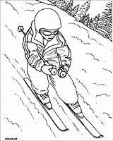 Skiing Coloring Pages Sports Printable Sheets Children Para Colorear Print Found Dibujo sketch template
