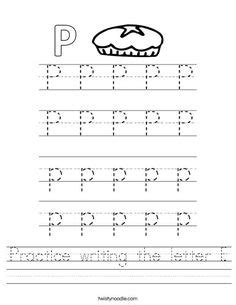 letter p word search worksheet twisty noodle trace the words that begin with the letter p worksheet 70107