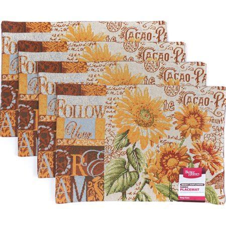 Better Homes and Gardens Sunflower Tapestry Placemat, Set