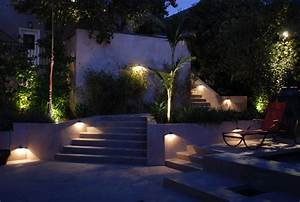modern staircase lighting contemporary landscape los With outdoor lighting gardenweb