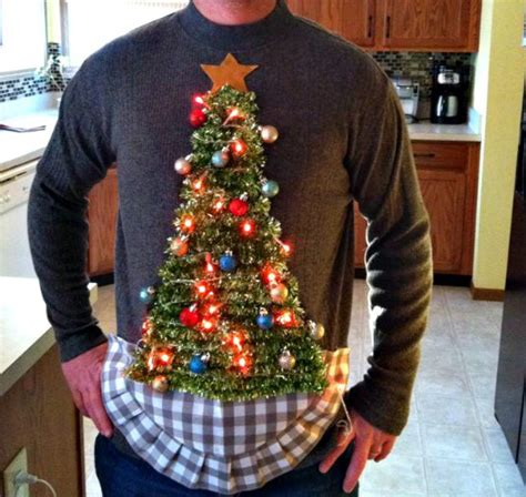 shockingly simple ugly christmas sweaters craft paper